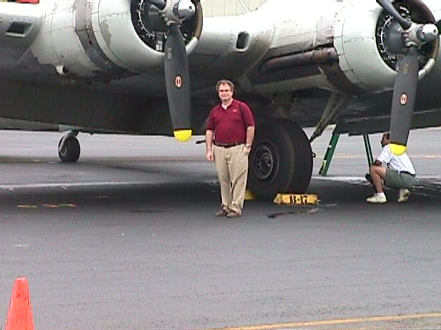 David by the B-17's No. 4 Prop